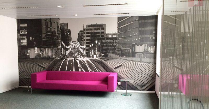 Fotobehang op maat KBC Brussel - Art Vision