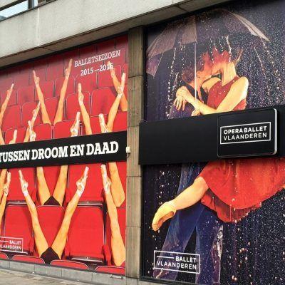 Tijdelijke Sticker - Opera Antwerpen - Art Vision