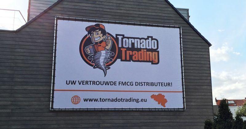 Tornado spandoek met alu frame - Art Vision