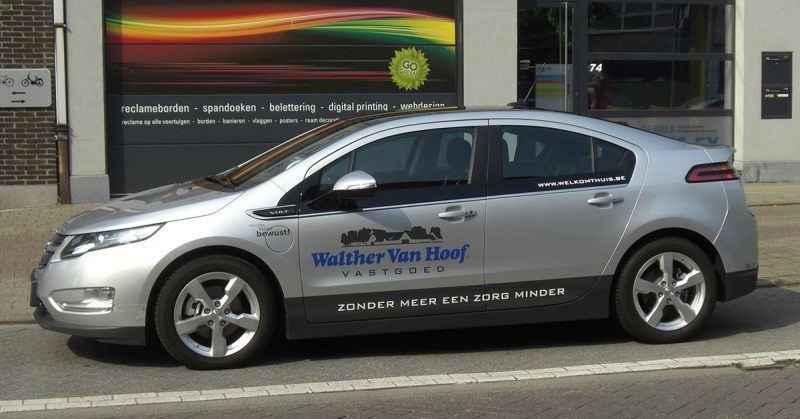 Walter Van Hoof voertuig belettering - Art Vision