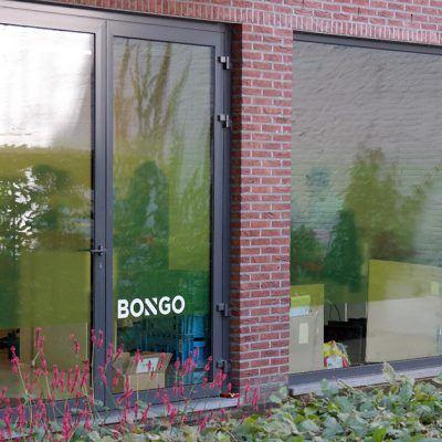 Bongo transparante raamfolie - Art Vision
