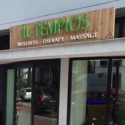 Il Tempios reclamebord met reliefletters te Antwerpen - Art Vision
