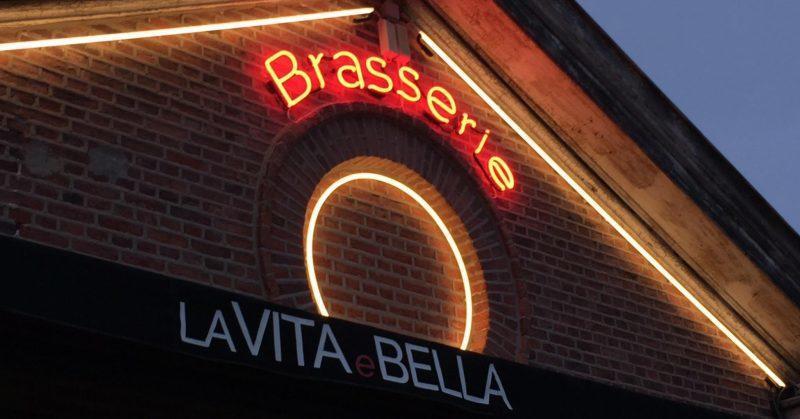 neon verlichting La Vita e Bella cirkel - Art Vision
