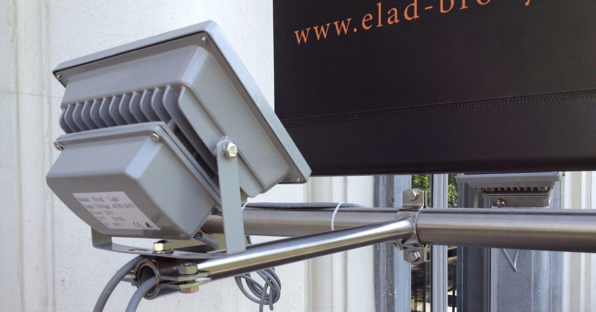 Uw banier verlicht aan gevel of mast - Art Vision