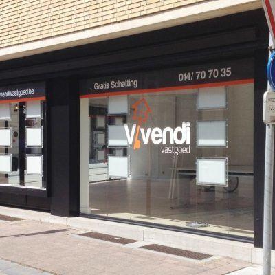 Vivendi belettering etalage - Art Vision