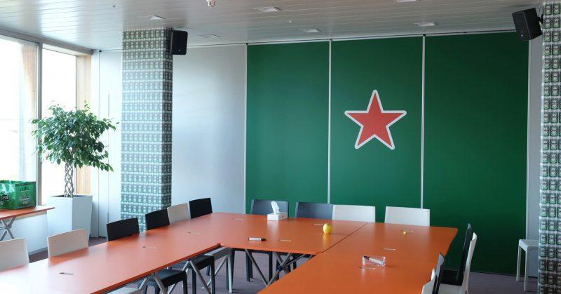 Digitale Print vergaderzaal & wrap betonnen zuilen- Art Vision