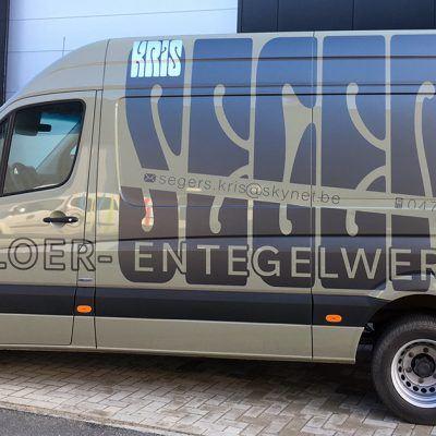 Bestickering camionette Kris Segers