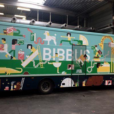Carwrap Bibbus Antwerpen ontwerp Sarah Vanbelle van Geel