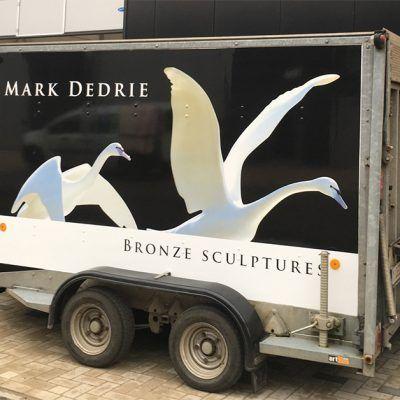 wrap bestickering aanhangwagen Mark Dedrie